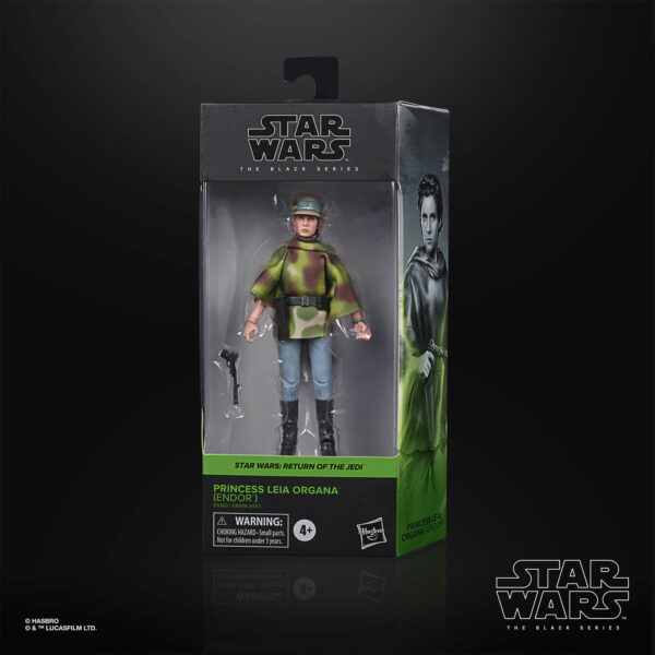 star wars black series leia organa endor